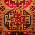 "Semi Antique Kazak Runner  size 2'6""  x  9'6"""