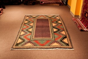 Vegetable Dyed Nomadic Rug from Konya/ Turkey size  5' x 7'